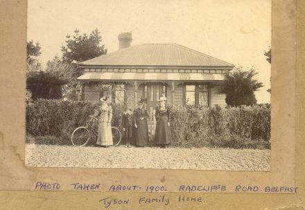 Tyson home in Radcliffe Road about 1900 (87-022B.jpg)