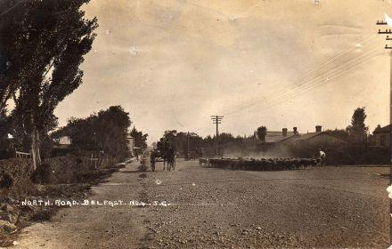 Postcard of North Road, looking south from Darroch Street towards Browns' shop on left (date unknown) 05-019.jpg