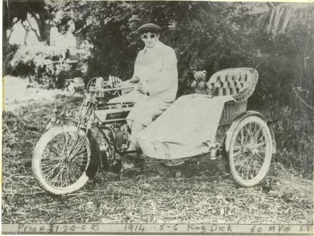 Mr Jack Tyson on his Motor Bike about 1914 (87-022A.jpg)