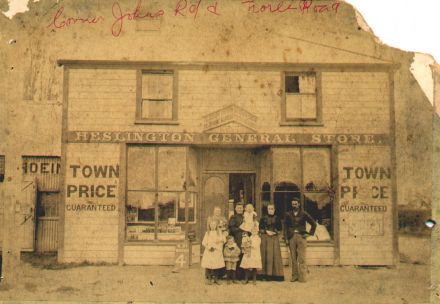 Heslington General Store on the corner of Main Road & Johns Road, Heslington township (1880's) 05-015.jpg
